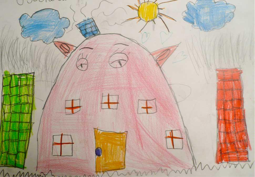 case ed alberi nei disegni dei bambini dai 6 ai 10 anni - tau-lab - Disegni Case Bambini